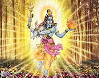 Trippen: Indiase god omringd door stralen