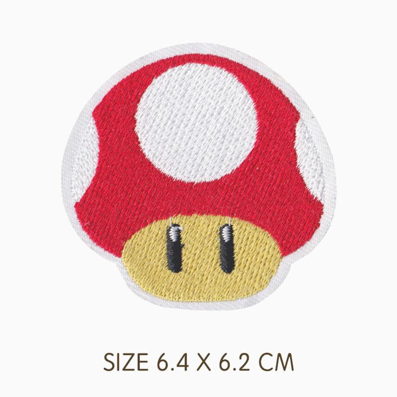 Mushroom Super Mario Bros Iron On Patch Big